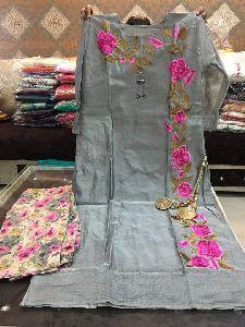 Silk Embroidered Kurti