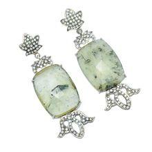 New look 925 Sterling Silver fine Fluorite stone earring