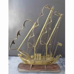 Vintage Brass Ship Model