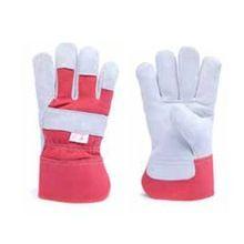 Cow Split Leather Double Palm Gloves