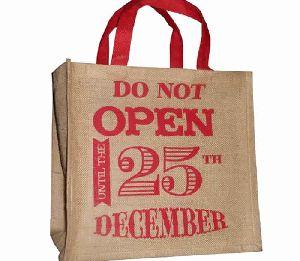 Long Lasting Jute Christmas Gift Bag