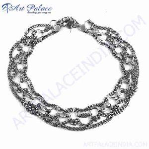 Fashionable Womens Wear German Silver Ankelets