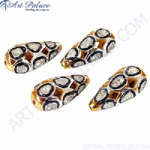 Gold Plated Silver Jewelry Diamond Beads