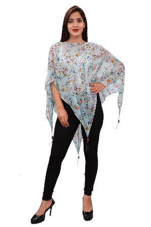 Silk Scarve Poncho