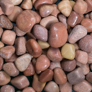 Red Natural polished pebbles