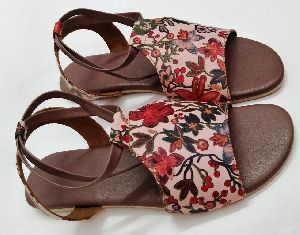 Designer Flower Print Ladies Sandal