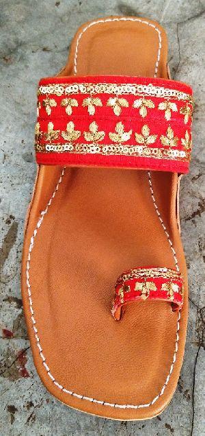 Fine Soft Leather Kolhapuri Ladies Chappal Sandal Shoe