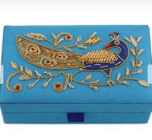 Embroidered Jewelry Box