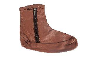 Leather Zipper Socks