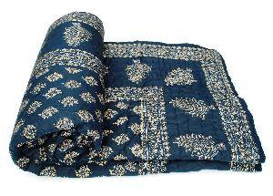 Hand Block Printed Cotton Jaipuri Quilt