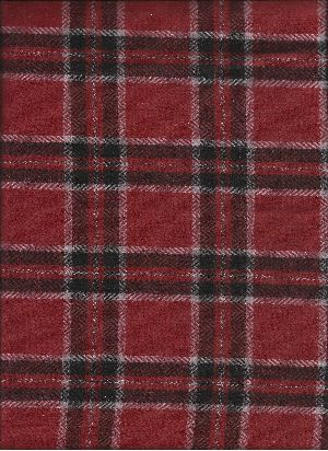 Woolen Tweed CHECK Fabric