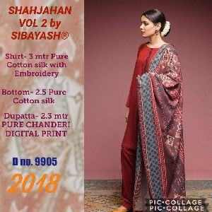 Sibayash Shahjahan Vol2 Pure Cotton Silk Embroidered Suits