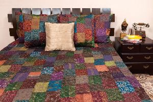 Silk Patch Bed Sheet