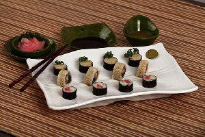 Premium Rectangle Bamboo Serving Platter