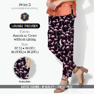 Ladies Printed Trousers