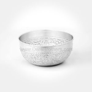 Hand Engraved Silver Bowl
