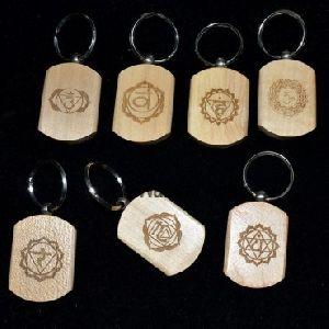 Reiki Wood Keyring