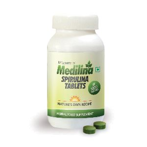 Medilina Organic Spirulina Tablets - 120 (500 Mg Each)