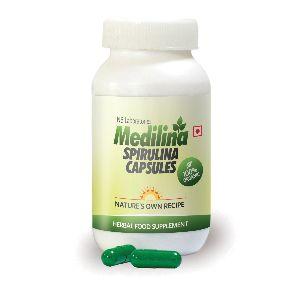 Organic Spirulina Capsules - 100 Capsules (500 Mg Each)