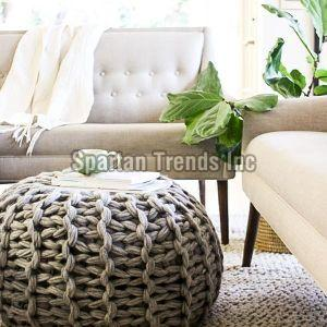 Knitted Cotton Poufs