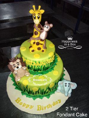 Fancy Fondant Birthday Cake