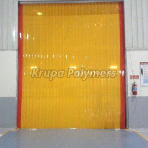 Yellow Pvc Strip Curtain