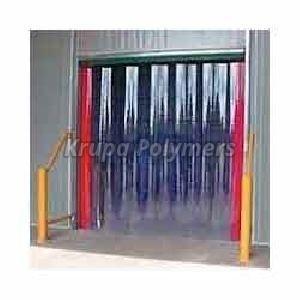 Blue PVC Strip Curtain
