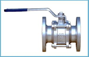 Stainless Steel Three Piece Flanged End Valve