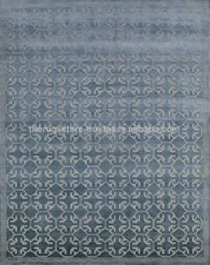 Wool & Art Silk Tibetan Rugs