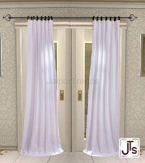 White Cotton Curtain
