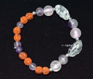 Crystal With Rudraksha Bracelets