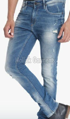 Mens Blue Slim Fit Jeans