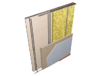 twin framed acoustic separating wall