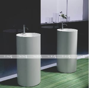 Artificial Stone Pedestal Basins