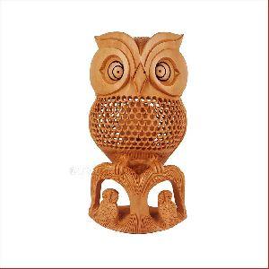 Watchful Eyes Jaali Carved Owl