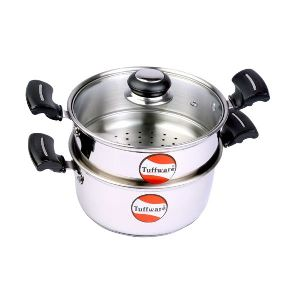 Steamer Set With Glass Lid
