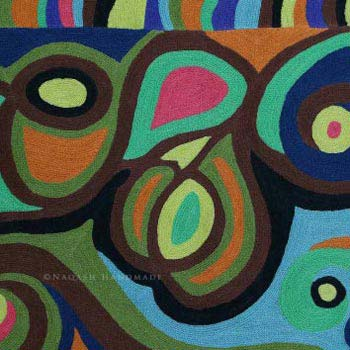 Blissful Chain Stitch Handmade Modern Art Rug