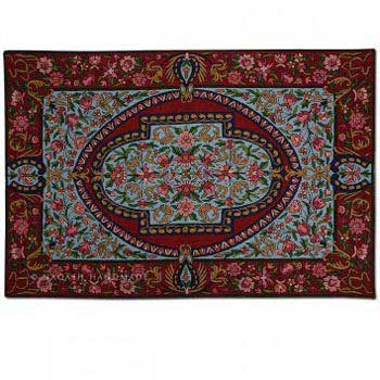 Najeeb Wool Embroidered Traditional Handmade Rug