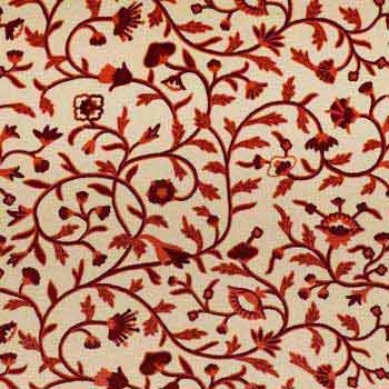 Zanskar Crewel Work Hand Embroidered Cotton Fabric