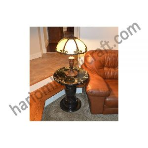Black Marble Table Lamp Stand