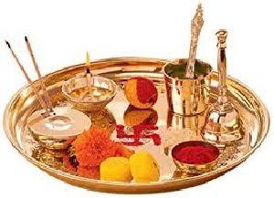 Brass Pooja Set