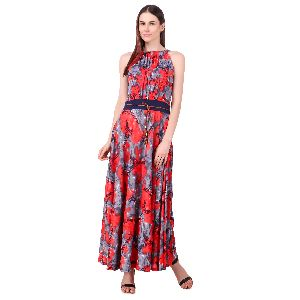La Zoya Floral A-line Maxi Dress