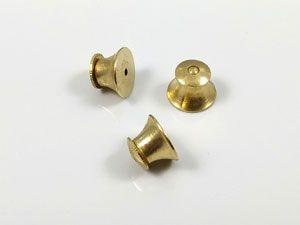 Clutch Flat Top Brass Label Pin