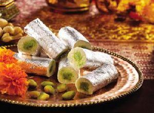 Kesar kaju Roll - Dry Fruit Sweets