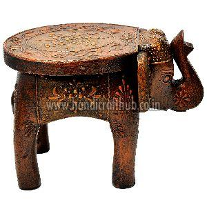 Marvelous Hand Painted Wooden Elephant Stool Manufacturer In Jaipur Onthecornerstone Fun Painted Chair Ideas Images Onthecornerstoneorg