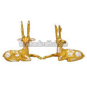 Handmade Decorative Golden Deer Statue