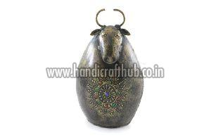 Iron Handmade Cow Shaped Coin Boxes