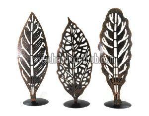 Set Of Three Copper Tea Light Holders