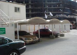 GRP CAR PARKING SHED