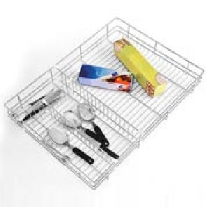 Kitchenware Ss Drawer Cutlery Basket
